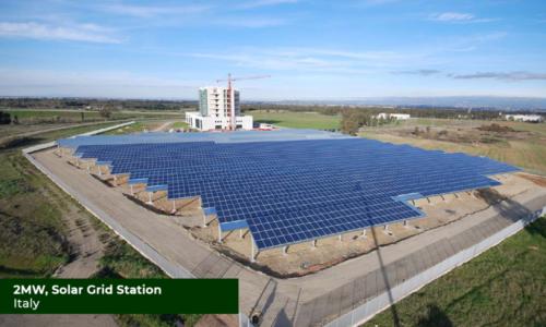 Italy 2MW Solar Grid Station