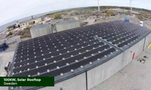Sweden 100KW Solar Rooftop