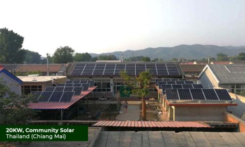 Thailand 20KW Community Solar (Chiang Mai)